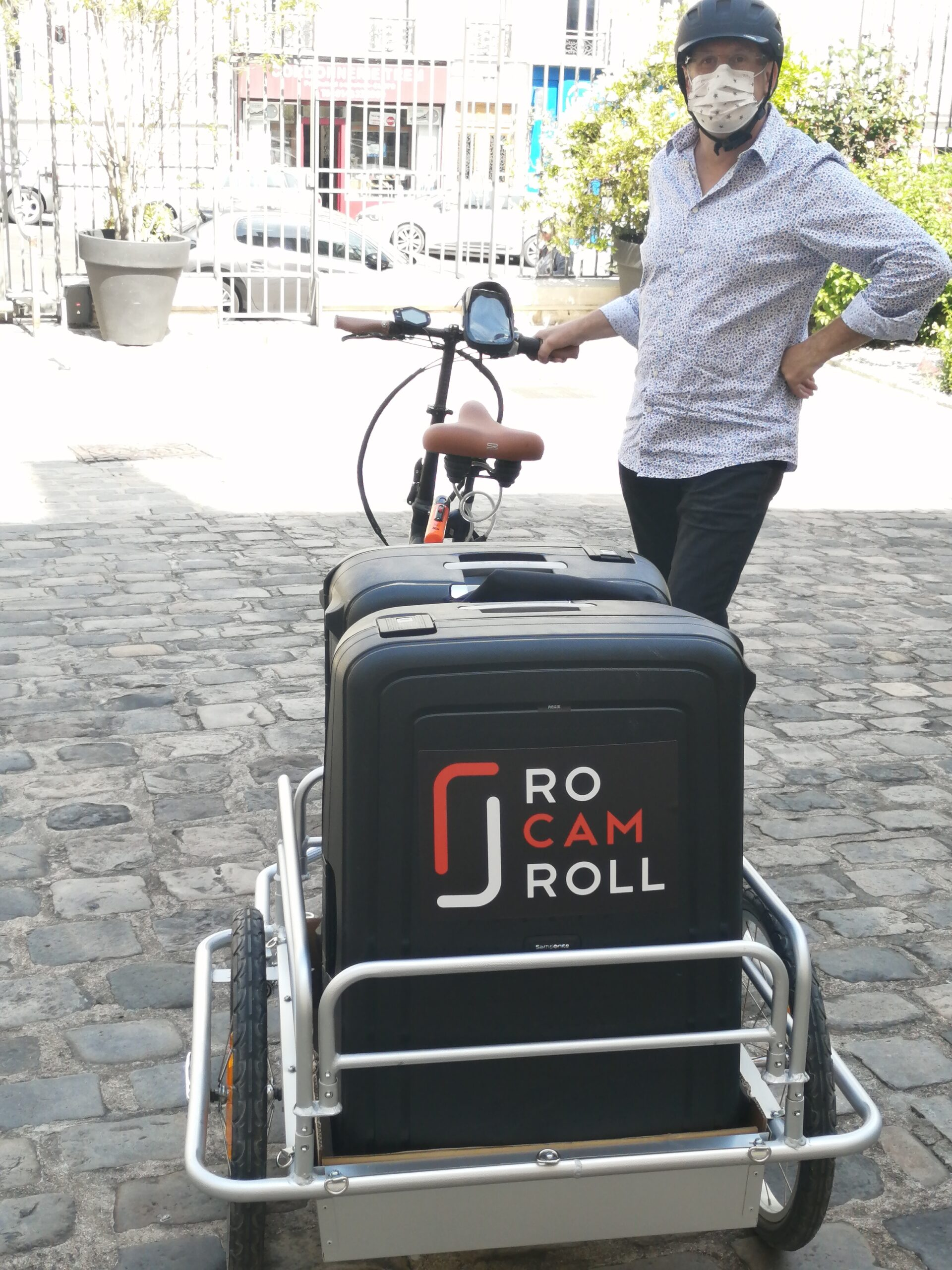 Transport audiovisuel à velo